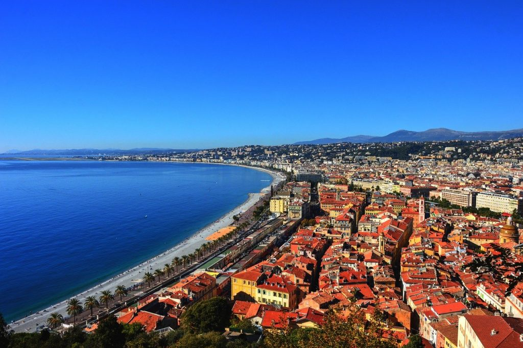 Vue colline du château à Nice